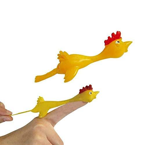 kylew Niños Niños Flick A Chicken Novedad Catapulta Fiesta Bolsa Juguete Piñata Rellenos Dedos Slingshot Juguetes de Descompresión 10PCS