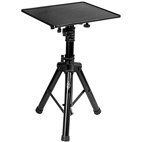 Starument Laptop Stand - Tripod Floor Stand for Computer, Projector, DJ Equipment, Studio Accessories - Light & Portable, Sturdy & Durable Metal - Adjustable Height, 31.9 to 50.2-Inch - 20x16  Tray