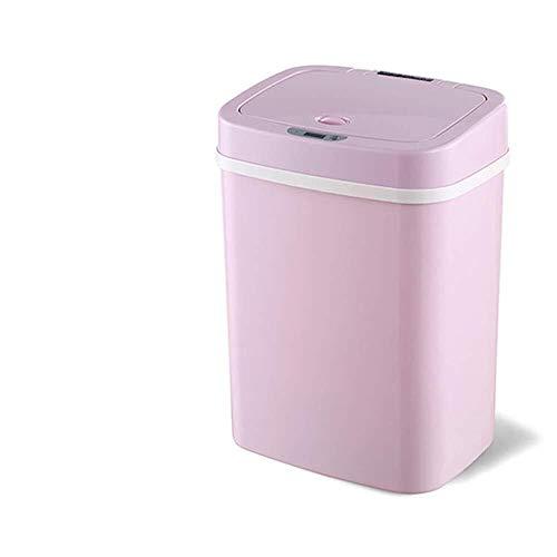 WSHFHDLC Mülleimer mit Deckel Smart Mülleimer, vollautomatische Haushalt energiesparende Baby Kind Windel Deodorant Kunststoff Mülleimer for Wohnzimmer Schlafzimmer Badezimmer 16L, B (Color : A)