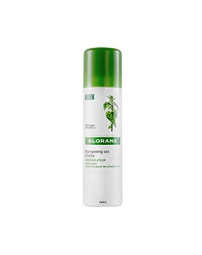 Klorane, shampoo a secco, sebo-regolatore, all'ortica, 150 ml (etichetta in lingua italiana non garantita)