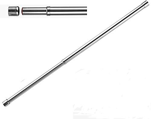 25 mm Kleiderschrank-Schiene, erweiterbar 57-97 cm, Edelstahl