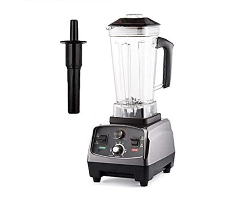 YYAI-HHJU 2200W Heavy Duty Commercial Grade Automatic Timer Mixer Blender Juicer Ice Blender Ice Blender Free Vaso da 2 Litri (Colore: Titanium Grey) Baibao