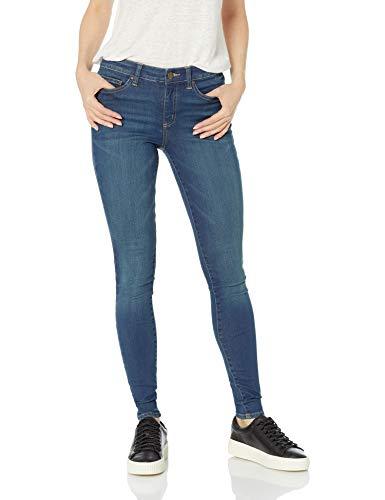 Amazon Brand - Daily Ritual Women's Mid-Rise Skinny Jean, Mid-Blue, 25 (0) Regular