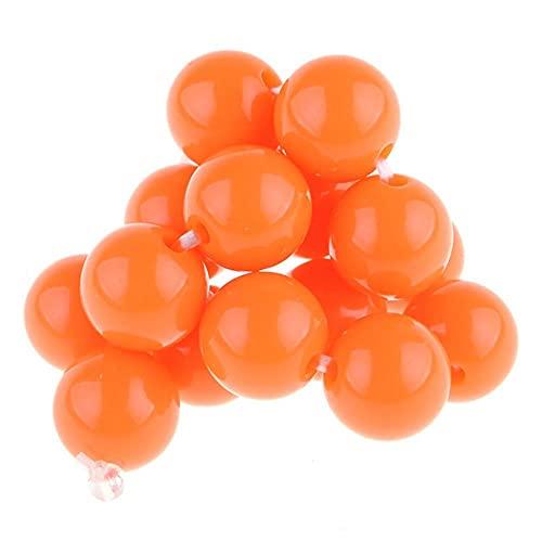 Acrílico opaco redondo 6 mm 8 mm 10 mm 12 mm 14 mm 16 mm 18 mm 20 mm cuentas sueltas lote manualidades resultados para hacer joyas DIY - Naranja, China, 14 mm 10 piezas