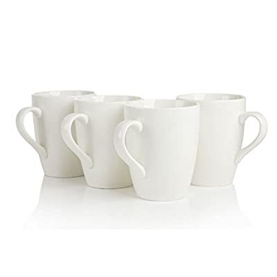Ceramic Porcelain Tea Mugs choice of 8 colours (set of 4)