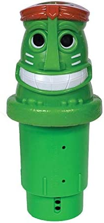 GAME 12034 BB Solar Light Up Tiki Chlorinator Green product image