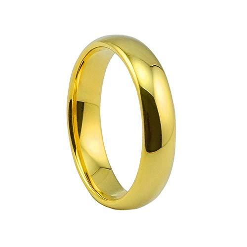 Pareja brillante anillo chapado en oro regalo de cumpleaños letras (Diámetro interior 21 mm)