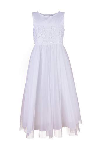 Une Hautre Couture Edel Kommunionkleid aus Seide Kommunion Kleid Hochzeitskleid (140-10A)