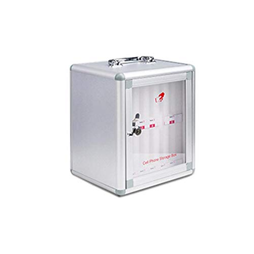 iYoung® Handy-Aufbewahrungsschrank aus Aluminiumlegierung, 8/12/24 Handytaschen-Aufbewahrungsschrank, Wandhalterung, abschließbar, kann Sein