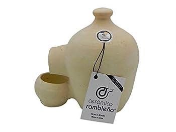 Abreuvoir pour poules - Abreuvoir pour oiseaux - La Rambla (cordoba) - 100 % fait à la main - 3,5 litres - Éco