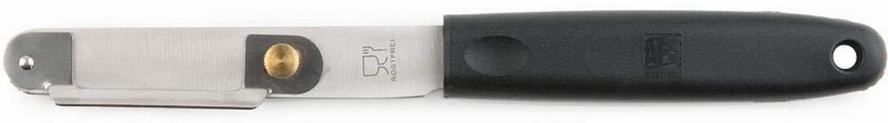 APS Pelador de espárragos, longitud 22 cm, acero inoxidable, pela espárragos lisos y uniformes, con tornillo de ajuste para un grosor variable de corte de nailon y fibra de vidrio.