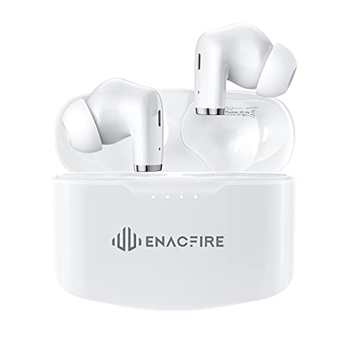 Wireless Earbuds, ENACFIRE E90 Bluetooth Earphones Extra-Deep Bass Stereo Sound Bluetooth Earbuds 48H Playtime Wireless Headphones with Microphone Touch Control, IPX8 Waterproof Type-C Fast Charge