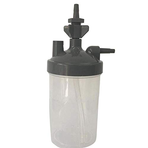 TUIXINZHIFU Humidificador de Botella de Agua para concentrador de oxígeno Humidificador Concentrador de oxígeno Humidificador de Botella Botellas-Blanco