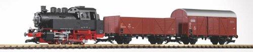 Piko 37120 - G Start-Set BR 80 mit 2 Güterwagen DB Epoche III (inklusiv Sound + Dampf)