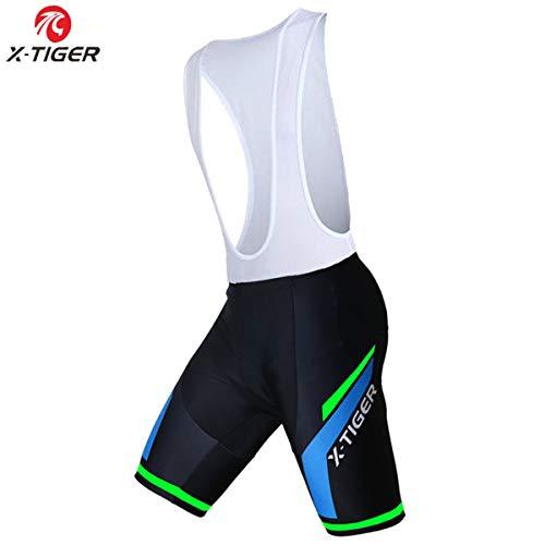 X-TIGER Hombres de Bicicleta Maillots con 5D Gel Acolchado MTB Ciclismo Pantalones Cortos
