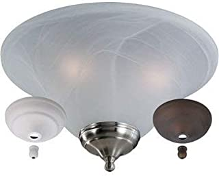 Monte Carlo MC04-L Transitional Three Fan Light Kits Collection in Multi Finish, White Faux
