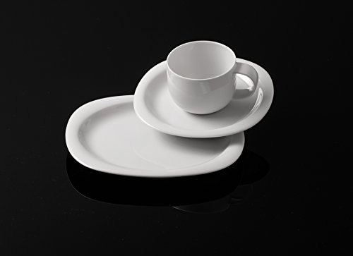 Rosenthal - Suomi Kaffeeset 18-teilig Weiß 6 x Frühstücksteller / 6X Kaffeetasse 2-TLG.