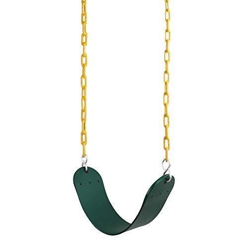 Juego de asientos de columpio REEHUT; resistente con cadena de 66 pulgadas recubierta de plástico; juego de accesorios de reemplazo de asiento columpio, 300 libras límite de peso.