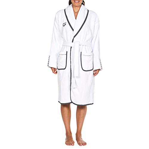 ARENA Damen Bademantel Premium Soft Robe, White Grey, M
