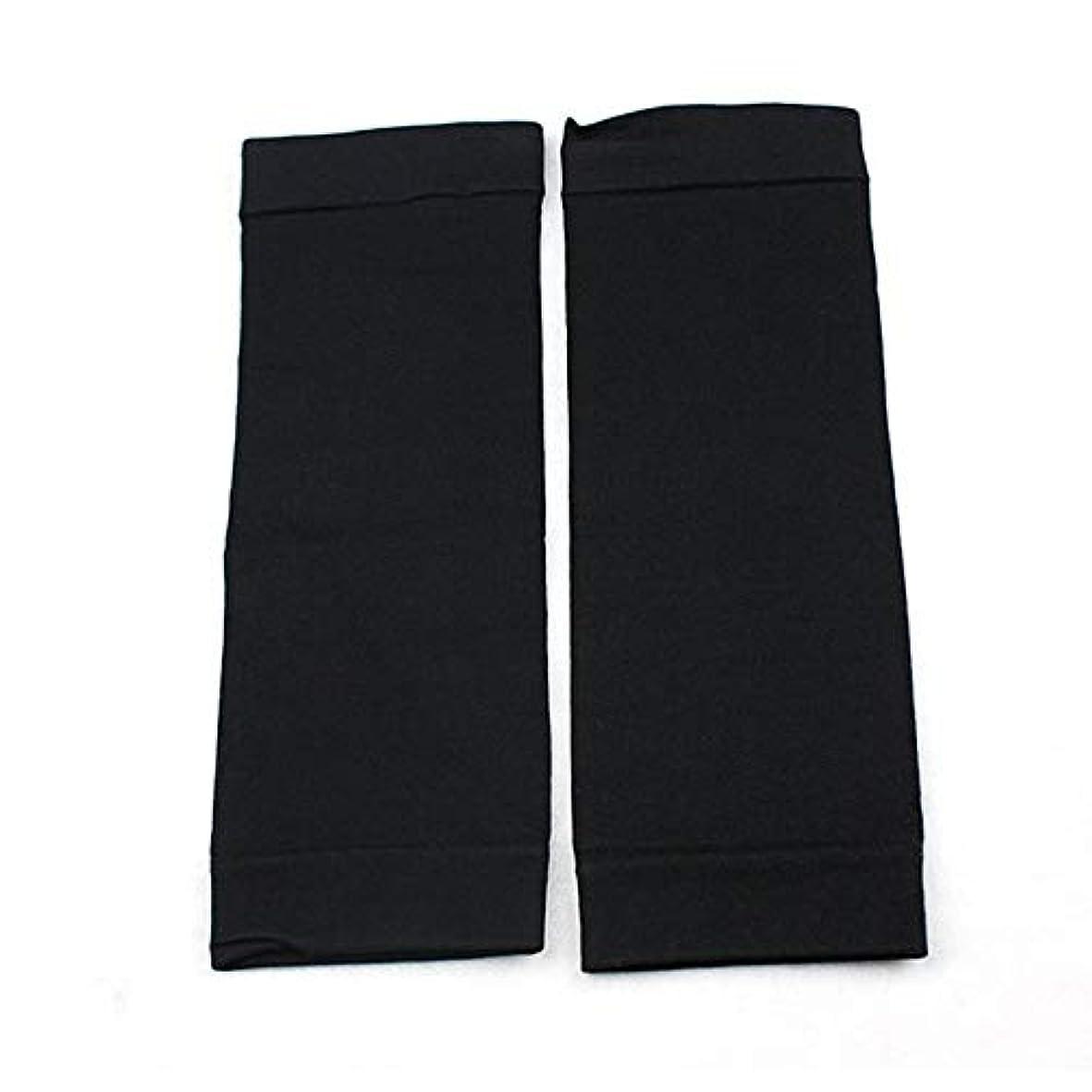 永久に科学者以内に1ペアウエストニッパーT高燃焼脂肪靴下圧縮レギンスレッグウォーマー圧力脂肪薄い脚パンツ燃焼脂肪ガード - ブラック