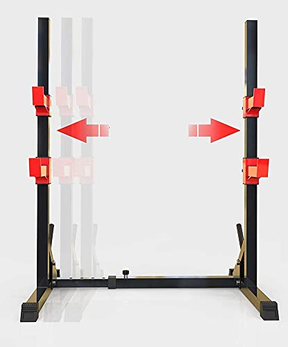 Byakns Bench Press Tym Typemultifunction Squat Rack - Altura Ajustable Soporte de Cuclillas Barbell Mancuerna Mapa Marco de Soporte Culturismo Gimnasio Gimnasio Levantamiento de Pesas Peso de Soporte