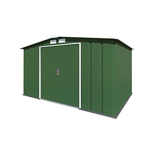 BillyOh 10x8 Metal Shed Partner Double Door Metal Apex Shed Steel Storage