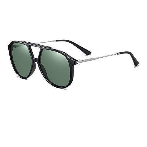 Gafas De Sol,Tr Net Red Trend Gafas De Sol Unisex Retro Gran Marco Conduciendo Gafas De Sol Polarizadas, Negro Brillante / G15 C01