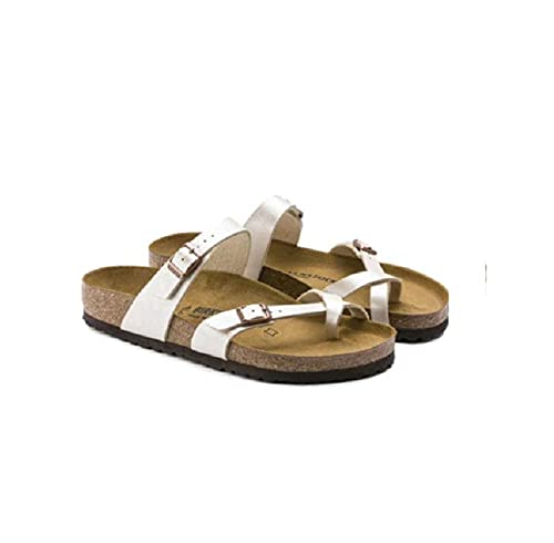 MISS KANG Sandalias de ducha para casa, zapatillas de corcho planas, antideslizantes pinnant shares-white_38, zapatillas de verano suaves para mujer Qingchunw (color: blanco, tamaño: UK4.5)