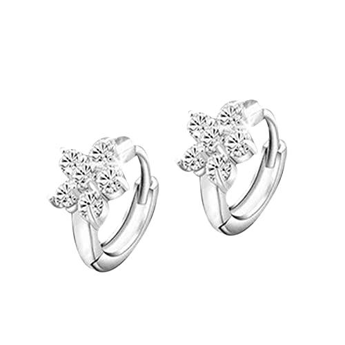 Women Fashion Earrings Women's Bling Winter Snowflake Earrings Hypoallergenic Fashianable Rhinestone Stud Elegant Women Jewelry - Earrings Jewelry Gift
