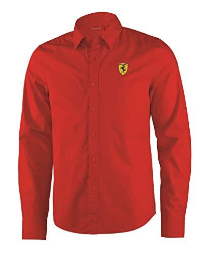 FERRARI / Formel 1 - Mens Long Sleeve Shirt Hemd Oberhemd Langarm Rot - Gr. S