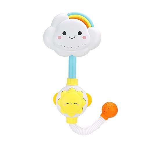 PPuujia Juguetes de baño Juguetes de baño para bebés Nube Bañera Duchas Baño Baño Baño Baño Chupadores Grifo plegable Niños Juguetes de Baño Lindo Spray Ducha Niños Regalo (Color: XS09)