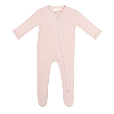 KYTE BABY Soft Bamboo Rayon Footies, Zipper Closure, 0-24 Months (3-6 Months, Blush) by