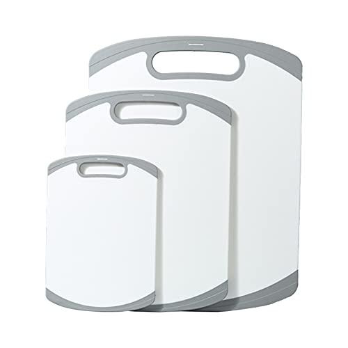 N / B Tagliere da Cucina in 3 Pezzi, Manico Facile da impugnare, per Cucina Lavabile in lavastoviglie per Carne Verdura Frutta, Antiscivolo Facile da Pulire di Grandi Dimensioni