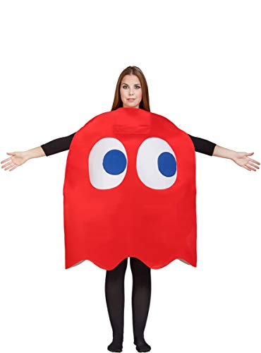 Adult Pac-Man Blinky Ghost Costume Red