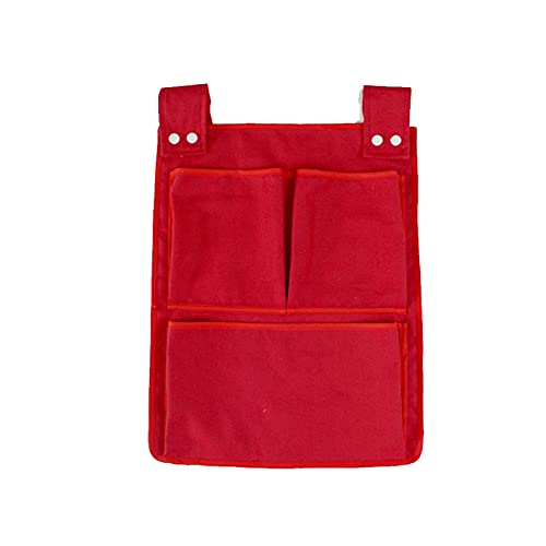 ONETOTOP Bolsa de Almacenamiento Colgante, Bolsa de Almacenamiento de algodón recién Nacido, Bolso de pañal de Juguete, Cuna, Accesorios de Almacenamiento de Ropa de Cama (Color : Red)