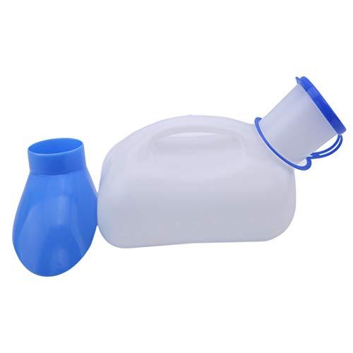 LGJJJ Frauen Männliche Tragbare Mobile Toilette 1L Urinal Potty Tragbare PIPI Flasche Für Für Krankenhaus Heim Camping Auto Reise