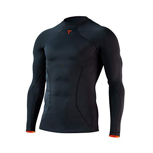 T1TAN Anti Abrasion Shirt 2.0 - Unterhemd für Muskelstimulation und minimiertem Abrieb für Torwart, Fußball, Basketball, Handball | L