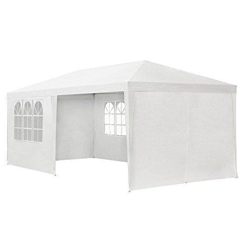 ArtLife Partyzelt 3x6 m weiß mit 6 Seitenwände – Pavillon wasserabweisend & stabil – Festzelt für Garten, Terrasse, Party - Gartenzelt