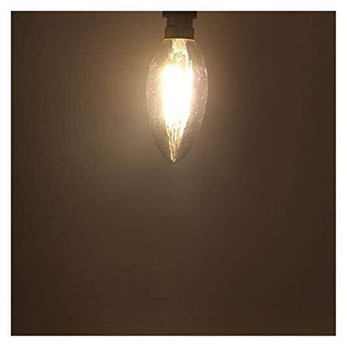 PHH Led Bulb Light B15 B15D Dimmer 110v 220v Warm White Filament Bulb 2w 4w 6w Candle Lights for Home Lighting Dimmable Lamp, Warm White 3000K (Size : 110v 6w)