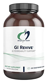 Designs for Health GI Revive - Gut Health + GI Intestinal Lining Support Supplement with Slippery Elm Cat s Claw Aloe L-Glutamine Marshmallow Root + More - Non-GMO  210 Capsules