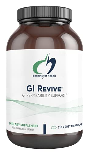 Designs for Health GI Revive - Gut Health + GI Intestinal Lining Support Supplement with Slippery Elm, Cat's Claw, Aloe, L-Glutamine, Marshmallow Root + More - Non-GMO (210 Capsules)