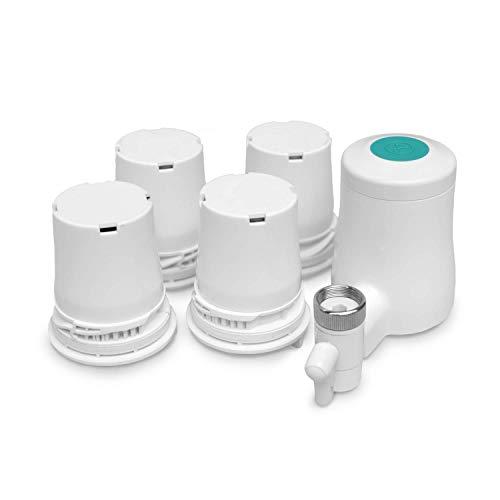 TAPP 2 Click - Jahrespack - Smarter, nachhaltige Wasserfilter für den Wasserhahn mit Bluetooth Funktion - Reduziert Chlorgehalt, Mikroplastik, Schwermetalle und pestizide