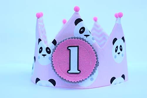 Corona cumpleaños niña de tela de algodón para adorno de fiesta infantil,...