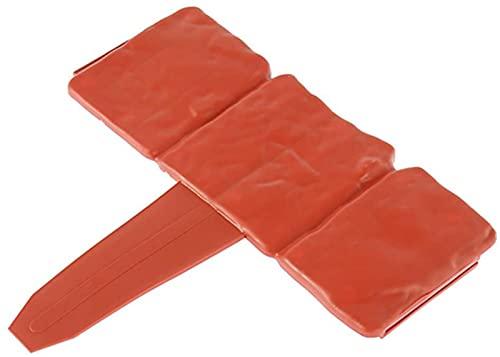 LIANHUAA Rasenkanten in Steinoptik Flexible Beeteinfassung Gartenzaun Umrandung, Rasenkantensteine Kunststoff für Rasen Blumenbeet,Grau/Rot (20 Stück(5m), Rot)