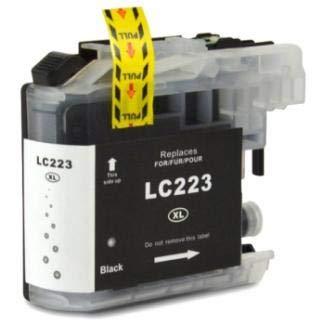 PCMOVILES Cartucho De Tinta Compatible Negro para Impresoras Brother LC223 LC221 LC223BK LC221BK V3