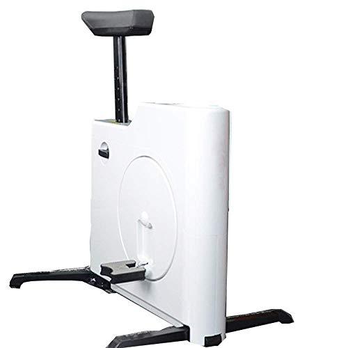 HZWDD Bicicleta giratoria Inteligente Bicicleta estática magnética Equipo Deportivo Bicicleta de Moda para el hogar, Instalación Gratuita, Almacenamiento Compacto y Conveniente, Blanco