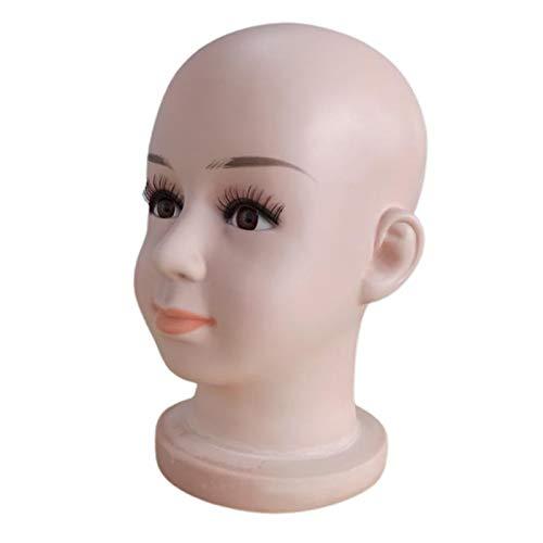 harayaa Baby Kids Training Bald Mannequin Head Manikin Doll Head for Wig Making,Glasses, Hat Display