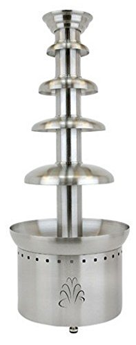"Buffet Enhancements 1BMFCF40E24 4 Tier Chocolate Fountain, 40"", Stainless Steel"