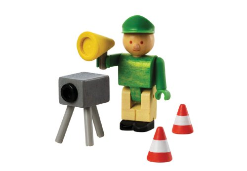 Woody Click 1040308 - Polizist mit Radargerät