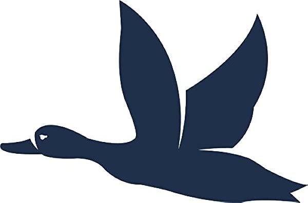Shinobi Stickers Blue Wild Woodland Forest Animal Cartoon Vinyl Sticker 2 Wide Goose
